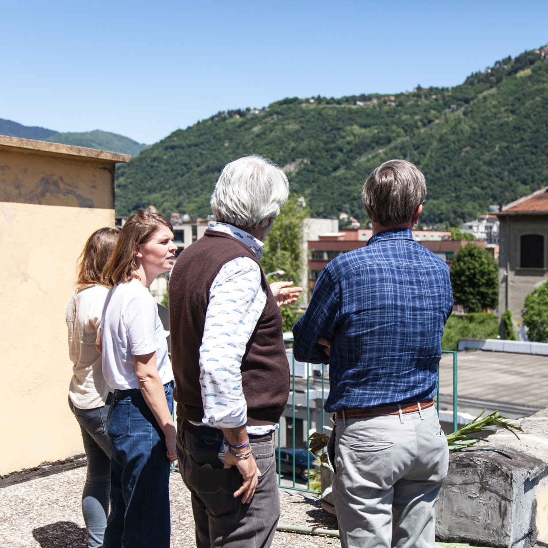 Caroline, Paolo (designer) and Pierre