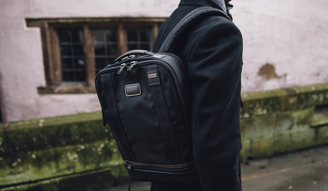 The Tumi Dover Backpack In A Hickory Colour Way Is Versatile Made From Highly Durable Fabric And Features Comfortable Adjule Shoulder Strap