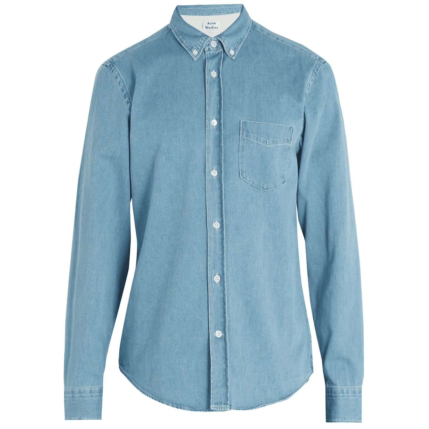 80778e9540 Acne Studios Isherwood Den Cotton-Denim Shirt in Light-Blue, £170 at  MATCHES FASHION >