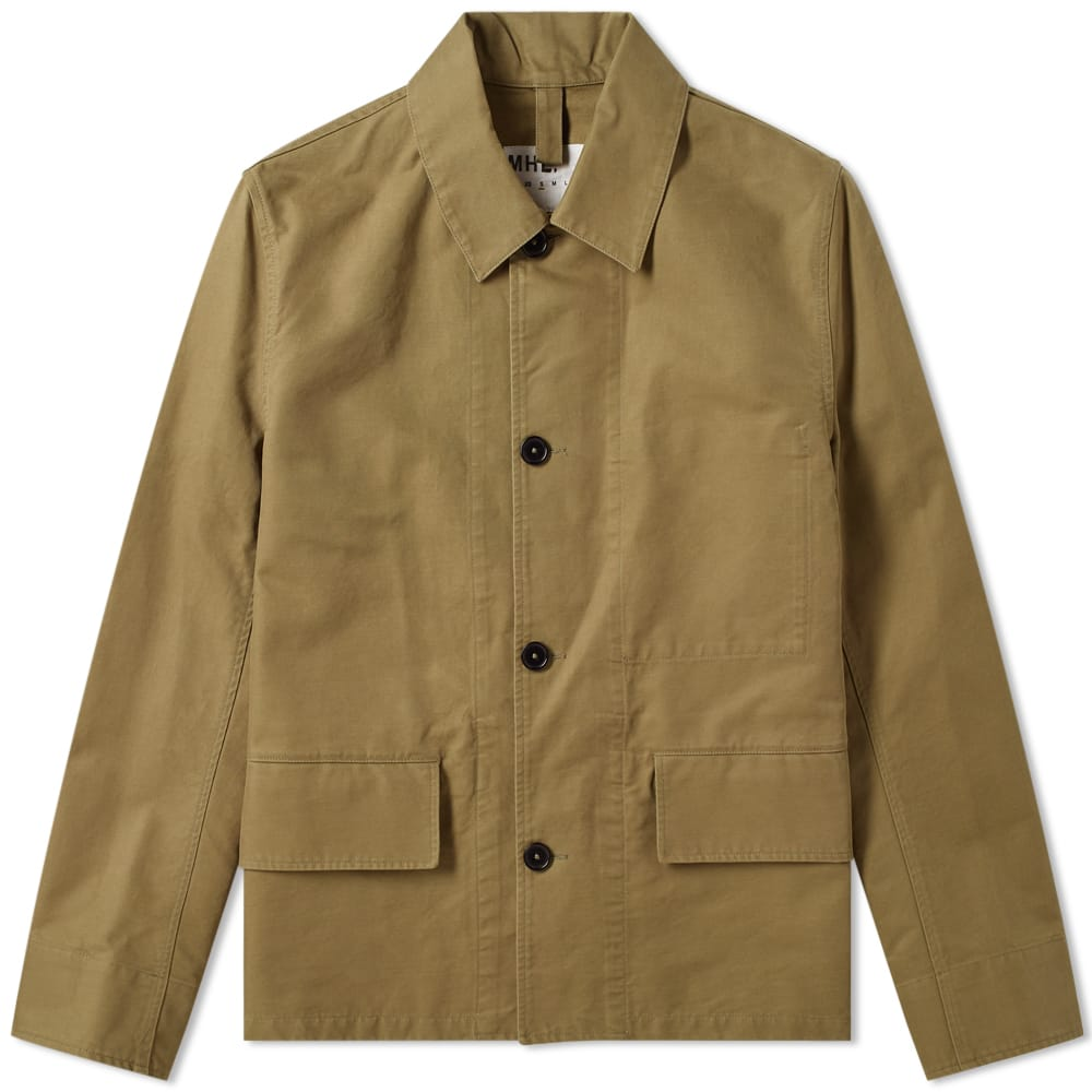 MHL by Margaret Howell Flap Pocket Jacket in Army Green