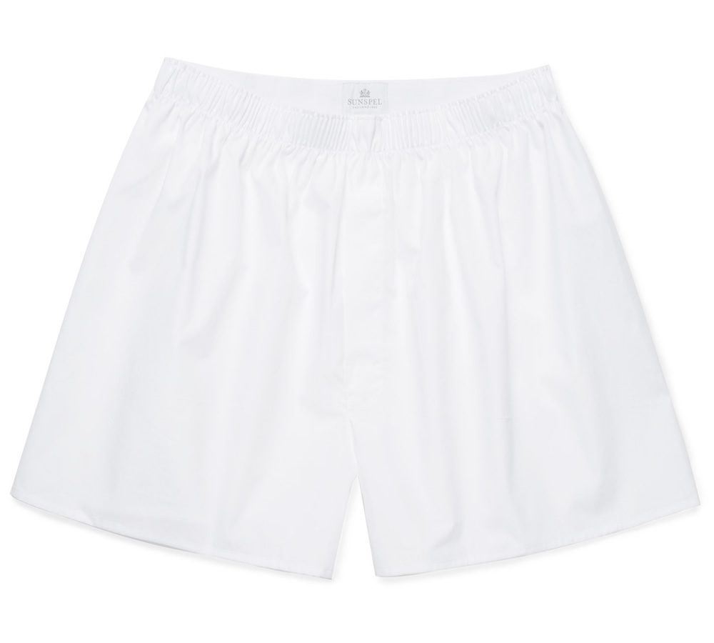 Sunspel Cotton Poplin Boxer Shorts