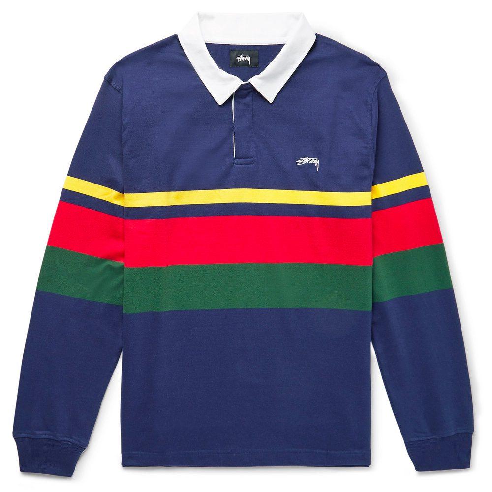 9d4e3bb7a Stussy Lucas Striped Cotton-Jersey Polo Shirt, £105 >