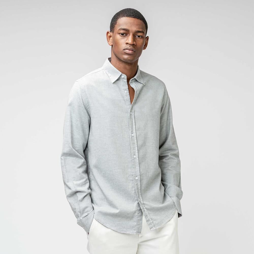 ISTO Cotton Cashmere Flannel Shirt